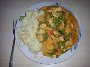 Red curry cu pui şi bambus 2