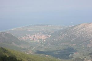 Vedere din Kazaviti a Campingului din Skala Prinos