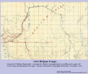 Harta din 1884 a statului Congo